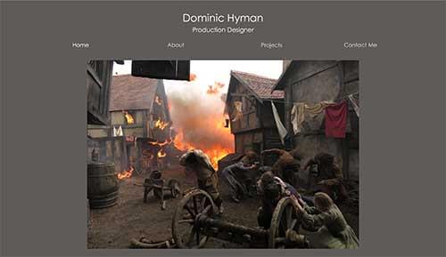 Website design for Dominic Hyman