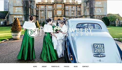New web page design for a Photographer