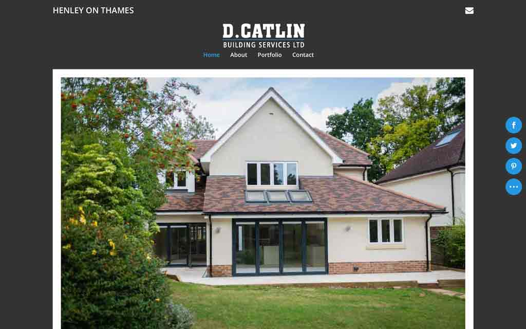 A new website design for D.Catlin Building Services