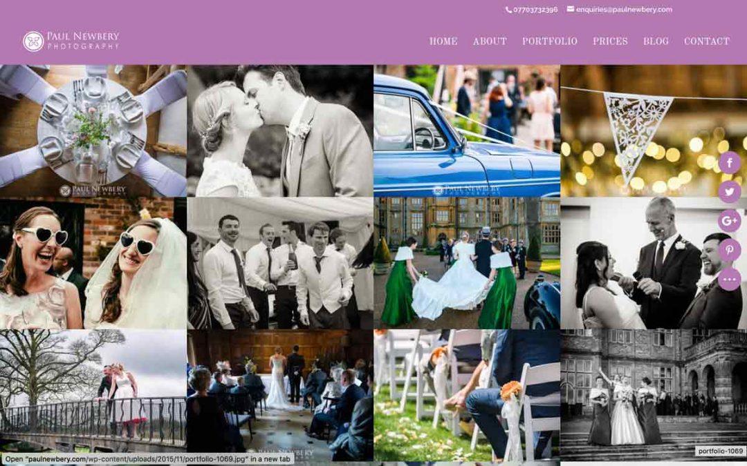 New Wedding Photography Website design