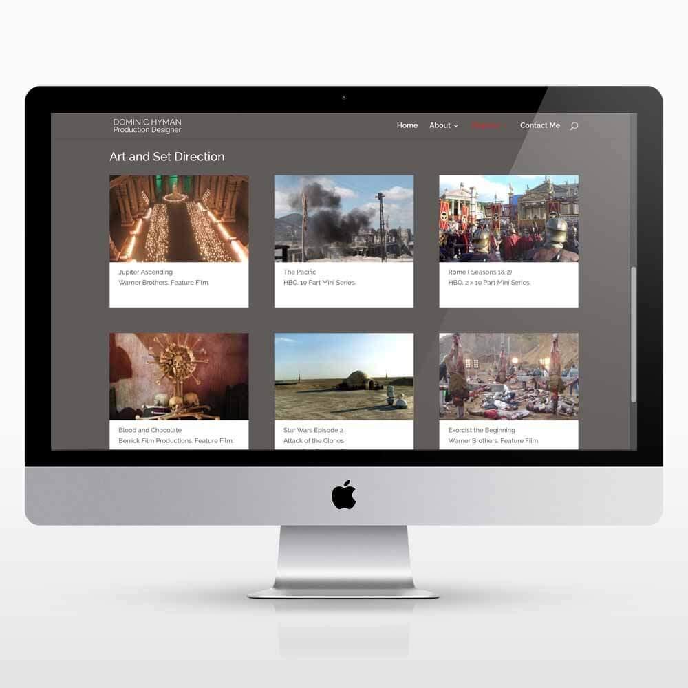header photo website design refresh for dominic Hyman