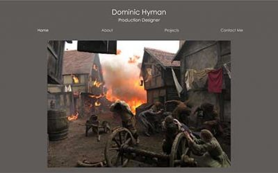 Website design for Dominic Hyman
