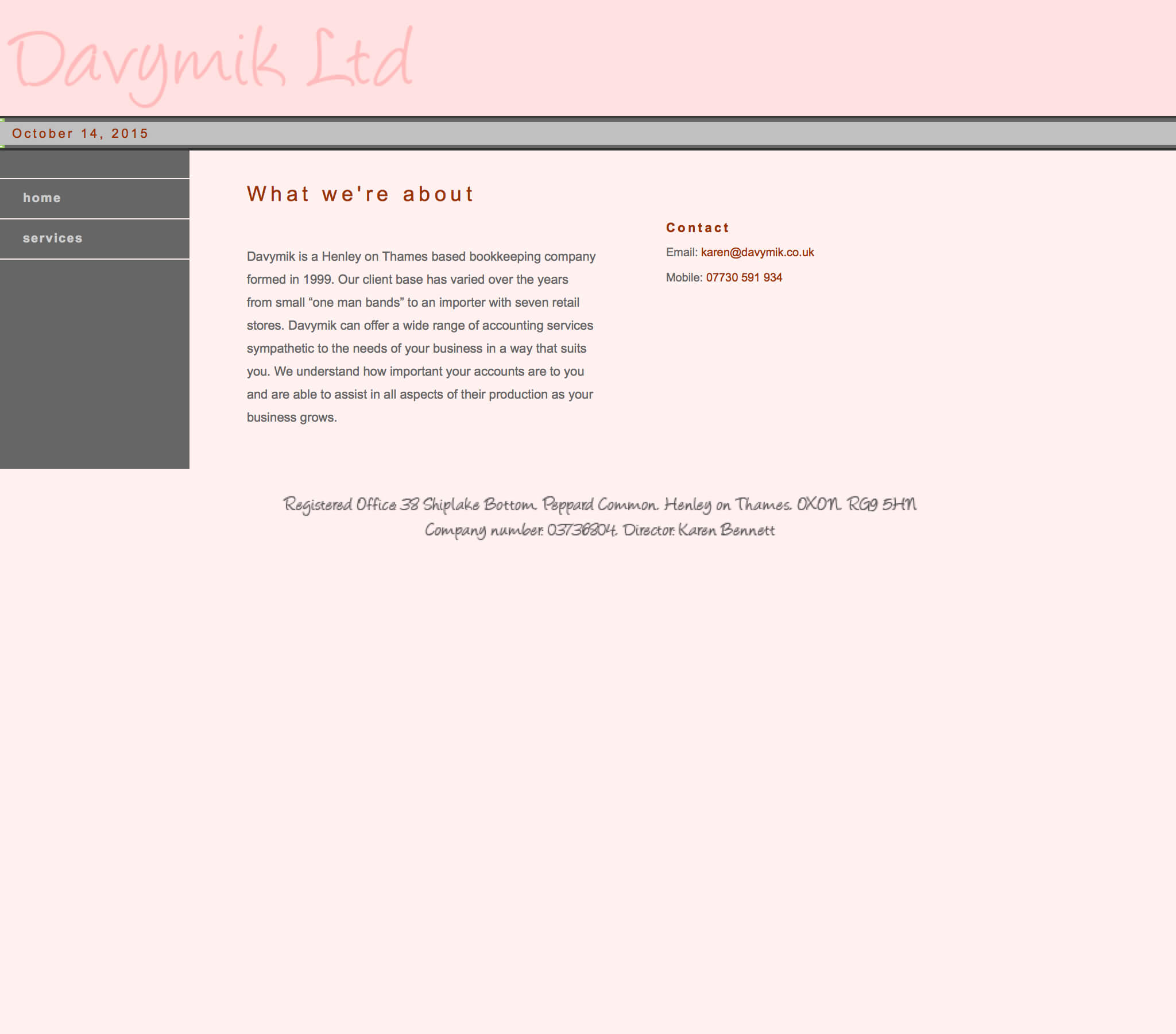 website design update (before photo)