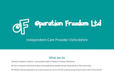 New Website Design for Operation Freedom Ltd