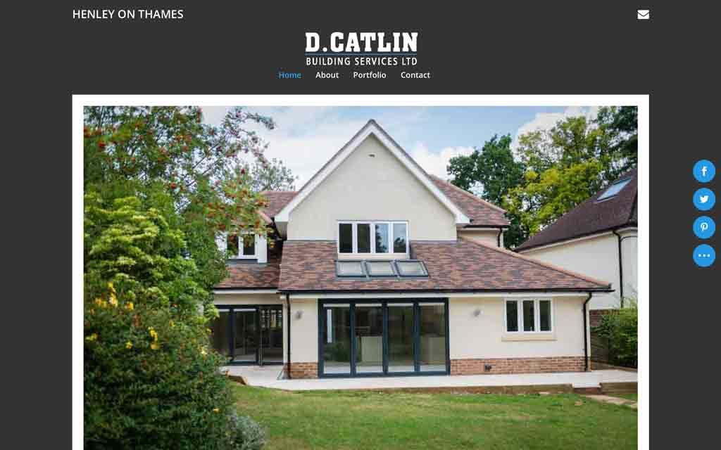 A new website design for D.Catlin Building Services