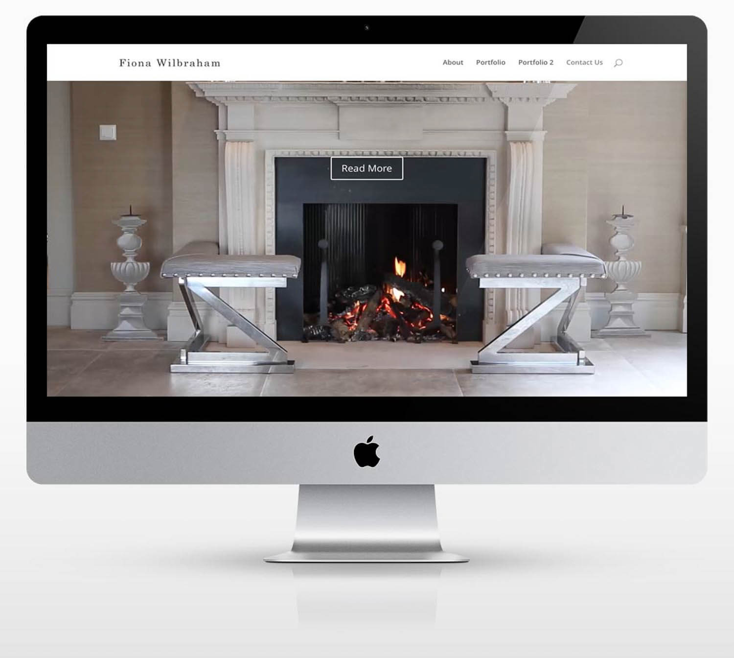A Portfolio website design for furniture designer