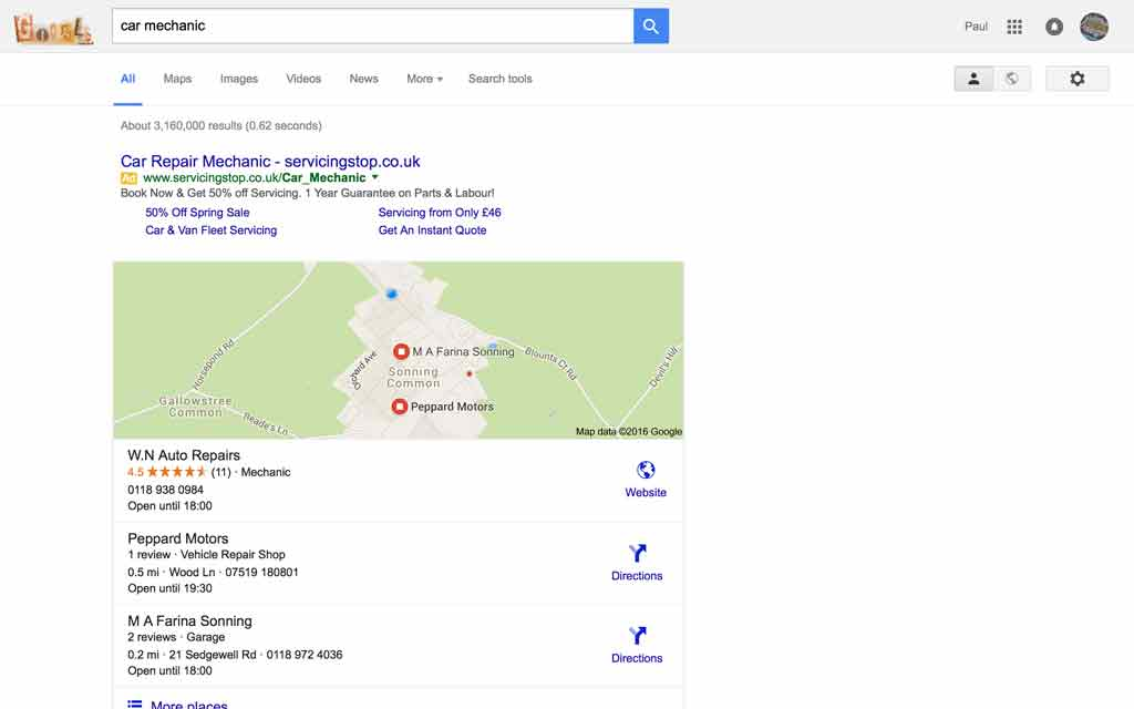 SEO company don't forget the local search