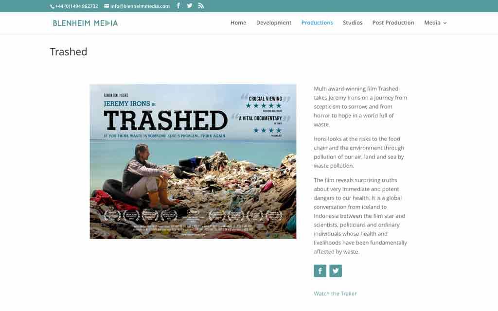 Blenheim Media New Website