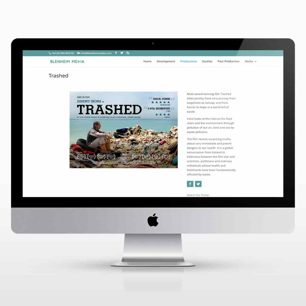 A new responsive WordPress website design for Blenheim Media