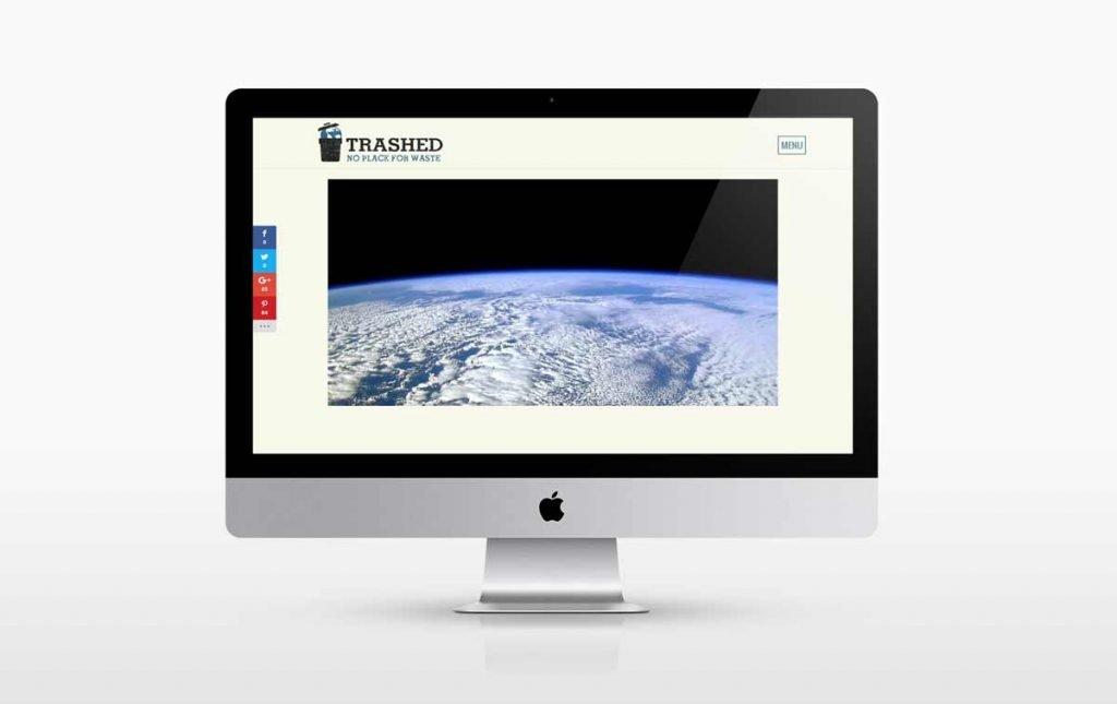 Web design for the Official Website Trashed Film