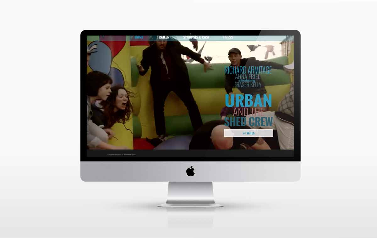New Web design for the Film Urban and the Shed Crew