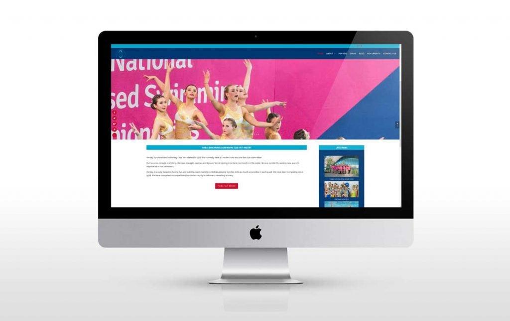 Web design a redesigned website for HSSC