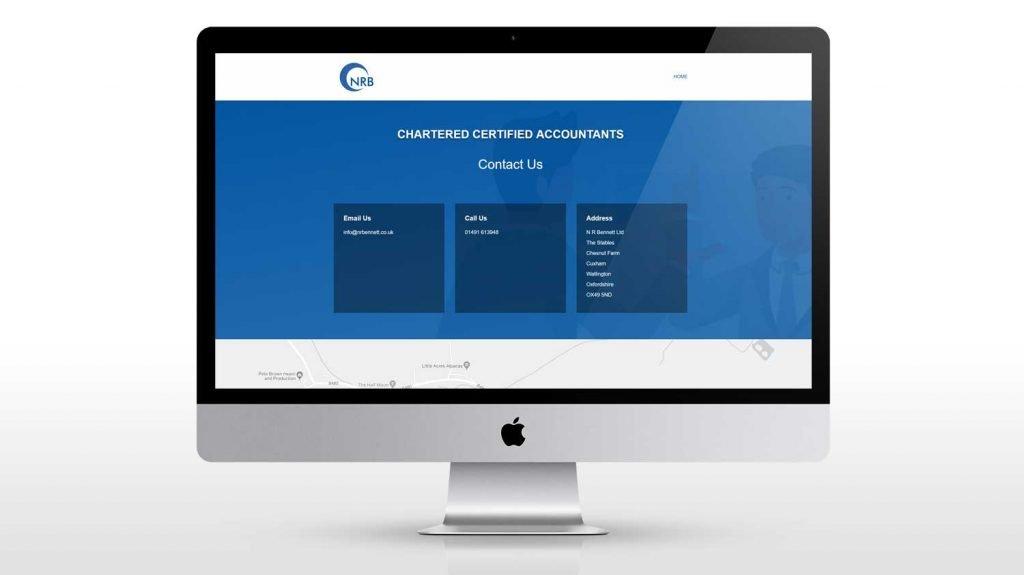 New website design for account in Watlington Oxfordshire