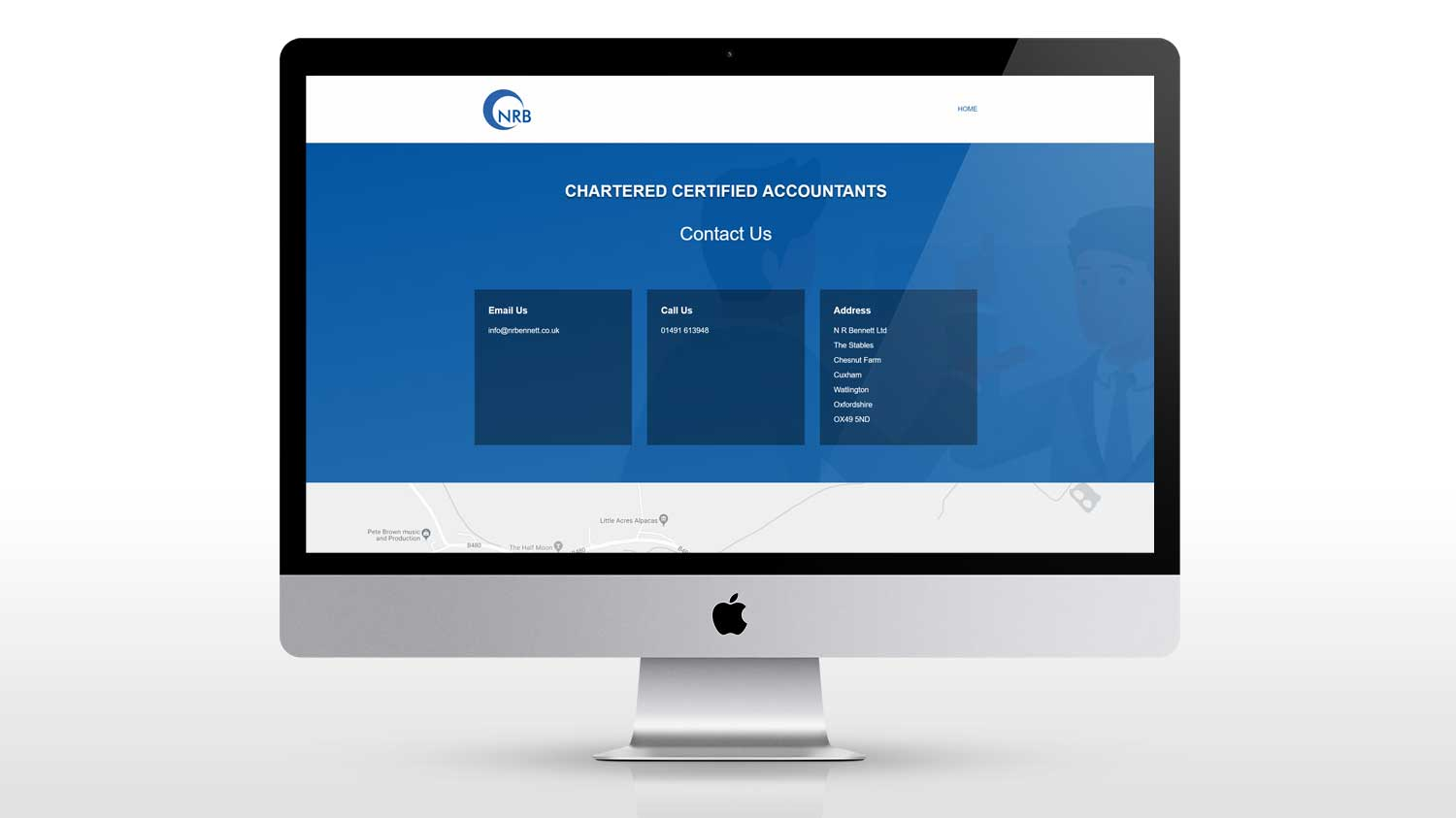 New website design for account in Watlington Oxfordshire