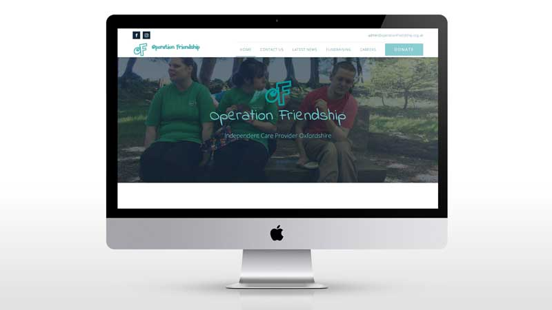 A new web design and SEO campaign for Operation Friendship
