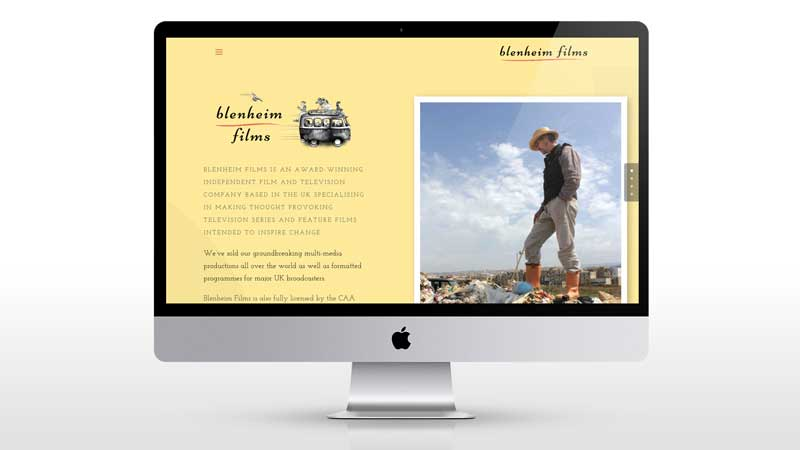 Blenheim films website design refresh