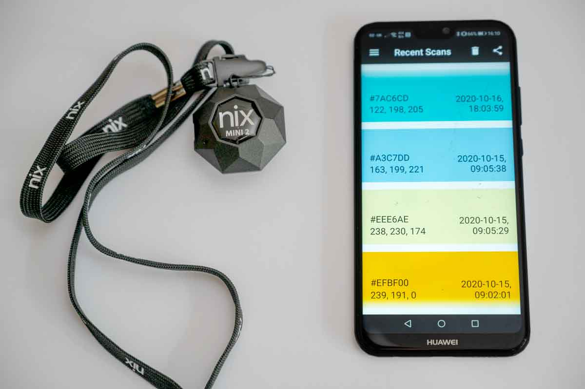 the nix colour sensor and smart phone app