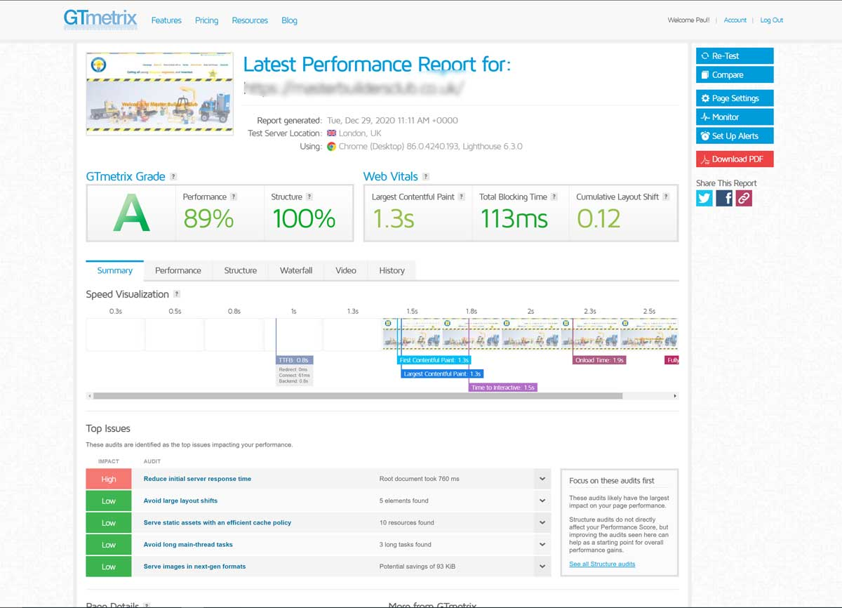 Just my changing hosting improved a websites performance by 10x