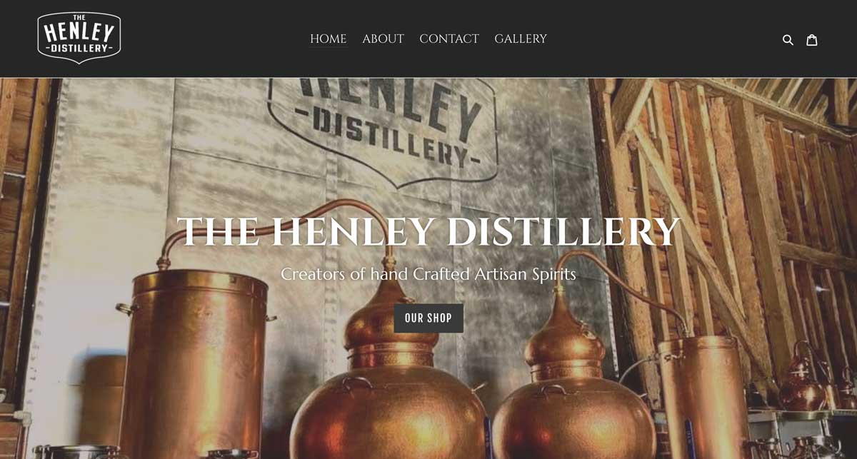 henley gin new web site hero section