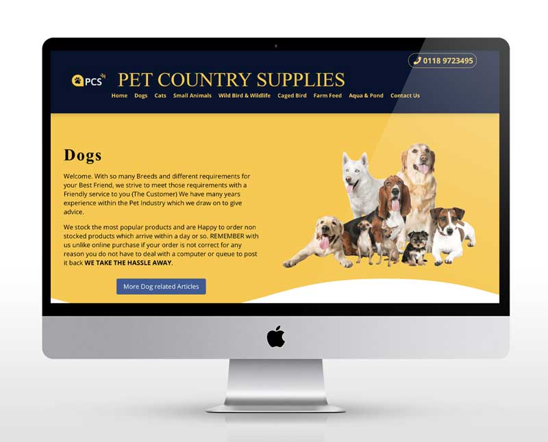New web design for a Sonning Pet Shop