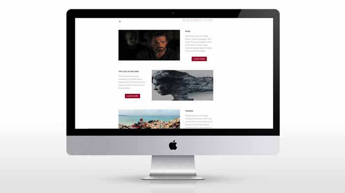 New web design photograph for blenheim films