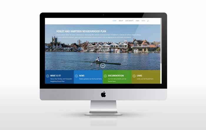 Website for Henley and Harsden Town Councils
